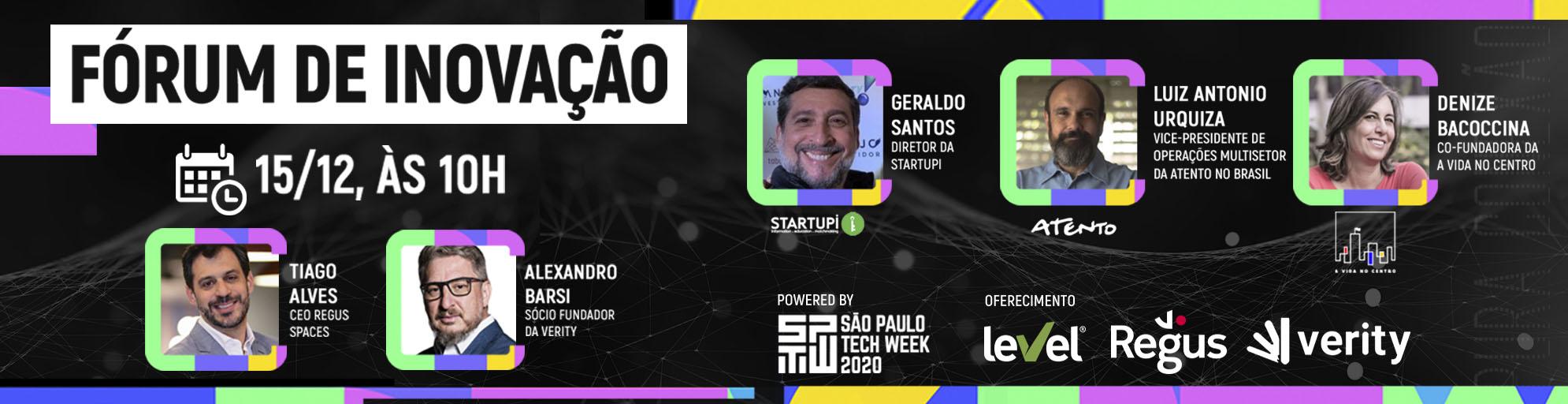 Fórum de Inovação do In.Talks em parceria com a São Paulo Tech Week